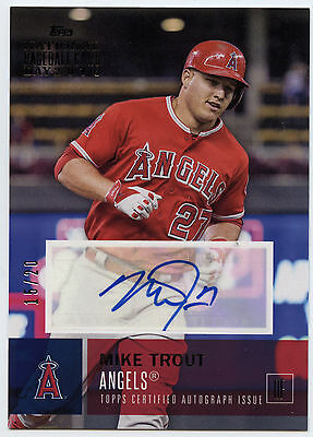 2016 Topps National Baseball Card Day Autographs #A-MT Mike Trout /20 (15/20)