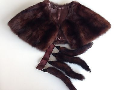 Vintage Fur Collar And Tails