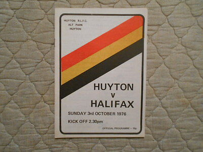 Huyton V Halifax Rugby League Match Programme 1976