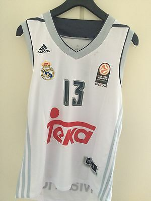 Canotta basket maglia Real Madrid jersey Chacho Rodriguez Euroleague S/M/L/XXL