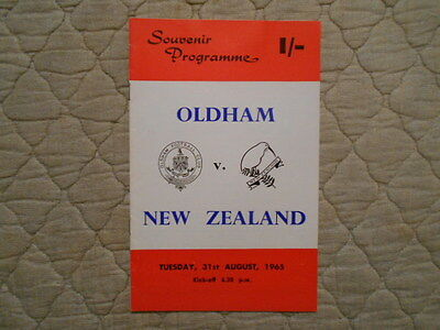 Oldham V New Zealand Rugby League Souvenir Match Programme 1965
