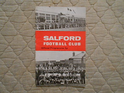 Salford V Leeds Rugby League Match Programme 1971