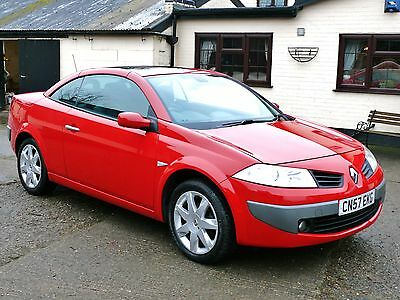 2007 Renault Megane Cc 1.6 Coupe/convertible  Red