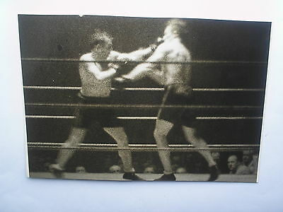 photo presse boxe boxing  1933  GEORGE COOK x WALTER NEUSEL