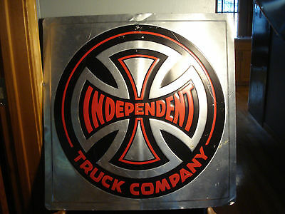 "Large 24"" Independent Truck Company Skateboard Tin Sign Rare!"