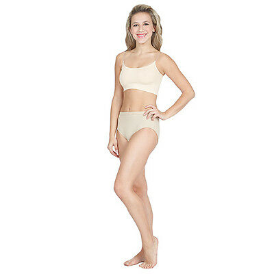 Capezio 3533 Women's Large (10-12) Nude Bra Liner w/ Clear Adjustable Straps