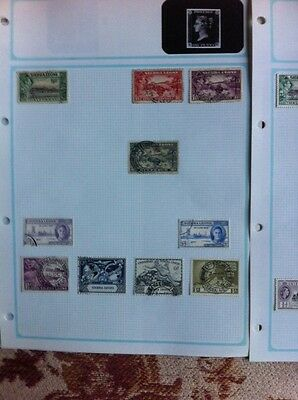 Old Sierra Leone Stamp Collection QV - 1953 Mint & Used