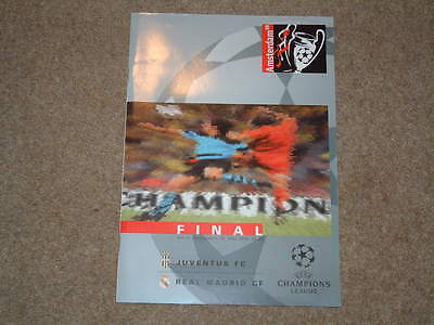 1998 Champions League Final Juventus v Real Madrid Excellent Condition