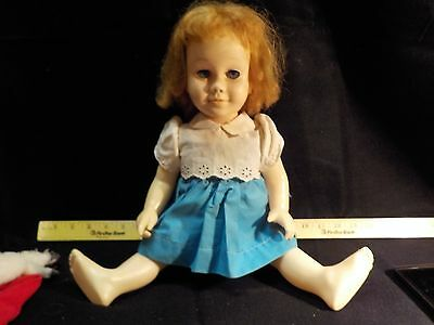 Vintage Chatty Cathy Doll with Strawberry Hair and Blue Eyes