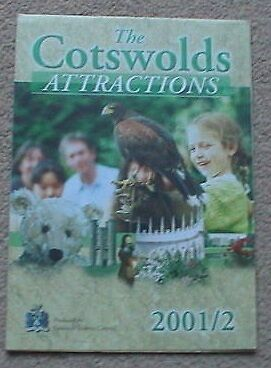2001/2002 The Cotswolds Attractions Fold Out Guide