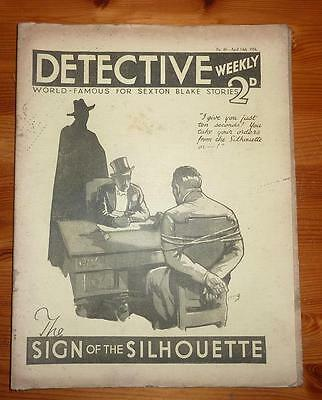 DETECTIVE WEEKLY No 60 14TH AUG 1934 THE SIGN OF THE SILHOUETTE SEXTON BLAKE