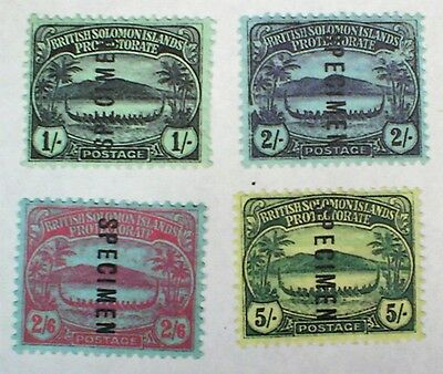 1908-1911 British Solomon Islands Protectorate Stamps Scott 15 - 18 Mint Vflh