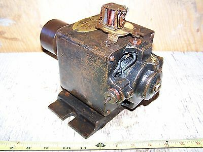 Old TITAN BATTERY CHARGING Lighting Antique Belt Driven Generator Hit Miss Motor
