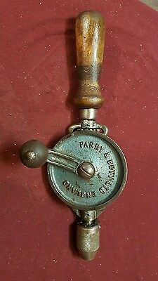 vintage hand drill by parry & bott