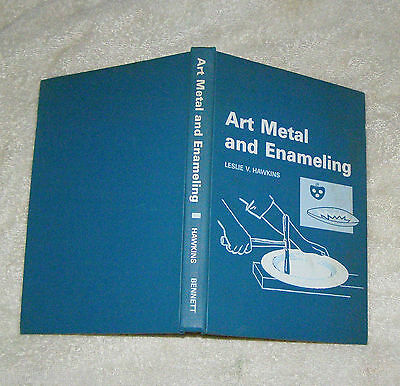 ART METAL AND ENAMELING by Hawkins 1967 design cutting abrading supplies finishi