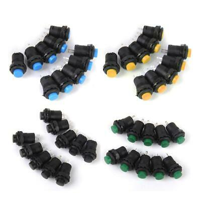 10x Mini On/Off Latching Latch Push Button Switch Locking for Car Boat- 4 Colors