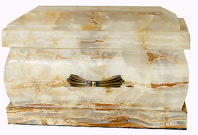 Cremation Ashes Urn, Large Stone Marble casket, Funeral Memorial Outdoor Garden