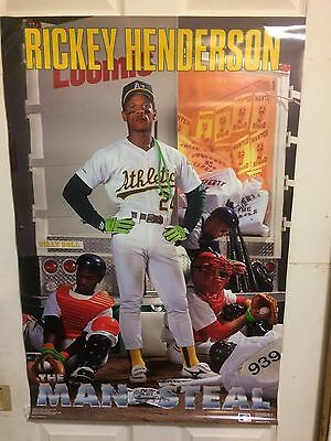 """Ricky Henderson  Costacos  Poster 24"""" x 36"""" Uncirculated"""