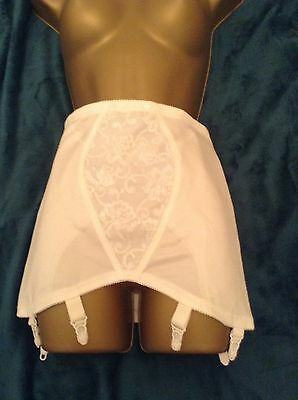 Vtg Open Crotch Corset Girdle 6 Suspenders Hips 42-44 Ins Large