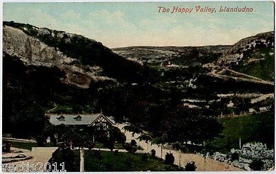 Llandudno, Caernarvonshire, Wales vintage Postcard - 1908 - The Happy Valley