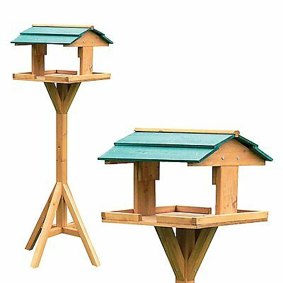 Traditional Wooden Bird Table Feeder Feeding Station Free Standing