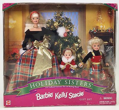 Holiday Sisters Barbie Kelly Stacie Gift Set Nrfb
