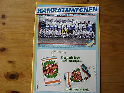 IFK Norrkoping v Southampton UEFA Cup 1982-83
