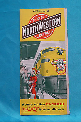 Chicago and North Western Railway, Timetable, Oct. 26, 1958