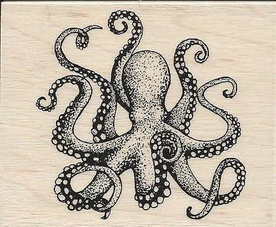 """""""Octopus"""" Rubber Stamp by Stampabilities"""