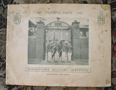 Bordentown Military Institute 1928 Closing Days Booklet Brochure- BMI New Jersey