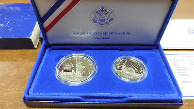 1986-S Statue Of Liberty Commemorative 2-Coin Proof Set