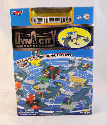 "Motor Max Dyna City Modular Building Set ""Airport"" w/ Terminal Bus   NEW"