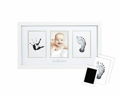Pearhead Babyprints Newborn Baby Handprint and Footprint Photo Frame Kit with...