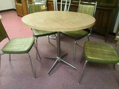Vintage BRODY Mid Century Modern Dinette Set Kitchen Table 4 Chairs Chrome MCM