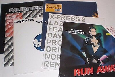 """Collection of 6 1990s dance 12"""" remix singles"""