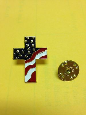 American Flag Cross Pins (100 Pin pack)(new) Celebrate America by your Faith!