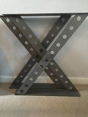 Table legs Industrial finish, heavy duty steel. Unique design. Price for a pair.
