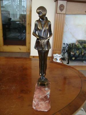 Fine Vintage French Patinated Bronze Art Deco Figurine. #3.