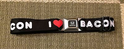 I LOVE BACON Honda Buckle Buckle-Down Nylon Seatbelt Belt Adjustable