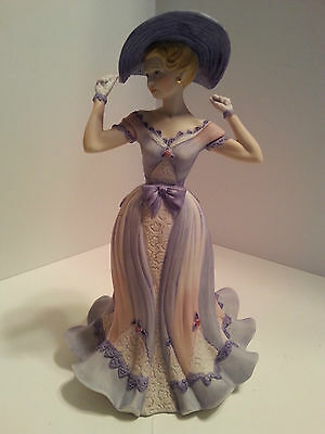 "Coalport Age Of Elegance Collection ""regents Park"" Porcelain Figurine England"