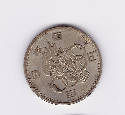 Japan 1964 Olympics 100 Yen Coin  Circulated condition
