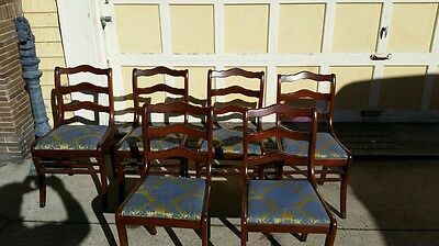 6 1954 Tell City Duncan Phyfe Empire Style Mahogany Dining Room Chairs