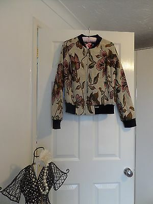 Tapestry bomber jacket size 14