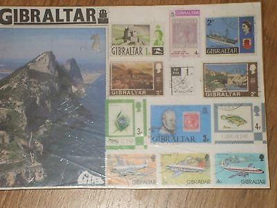 Set Of 12  Gibraltar Stamps Used