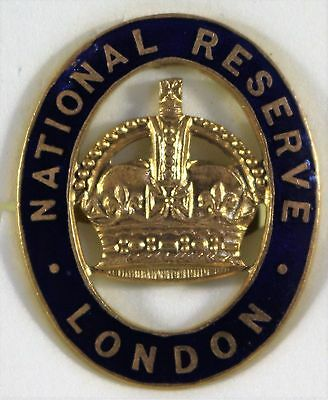 WW1 National Reserve London Home Front Badge.