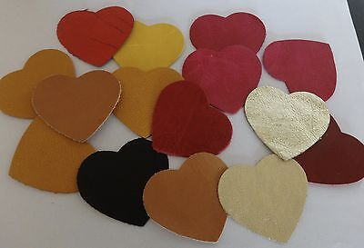 15 Leather Die Cut Valentine Heart Shapes Leather craft Jewellery Bag Making