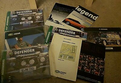 Land rover defender and accessory publications and brochures legend magazine