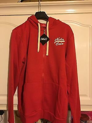 Fallout 4 Nuka Cola Pin Hoodie: Official Merchandise - Extra Large Bnwt