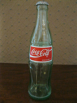 Coca Cola Coke Bottle With Cap From Mexico