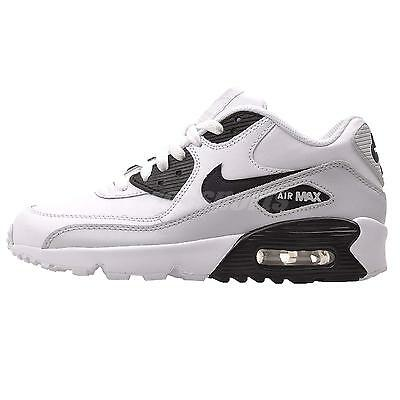 Nike Air Max 90 LTR GS Kids Youth Boys Girls Running Shoes White 833412-104